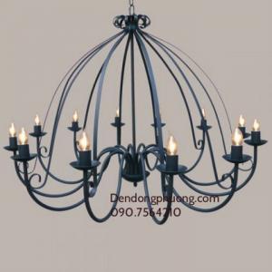 Cung cấp đèn trang trí tại hà nội, đèn sắt, đèn chùm cổ điển