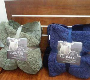 Chăn lông cừu ultiamte màu xanh rêu và xanh than
