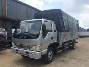 Xe tải jac thùng dài 6.8m, động cơ FAW mạnh mẽ.