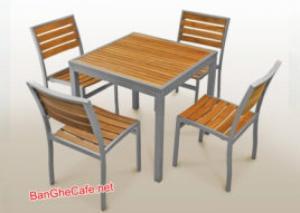 Bàn ghế sắt gỗ, bàn ghế quán nhậu. Mẫu mã mới, phong cách đẹp, thích hợp