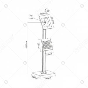 Chống trộm máy tính bảng BR-PAD 26-04C từ Setrus