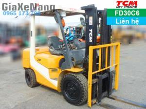 Xe nâng dầu 3 tấn, Xe nâng dầu TCM FD30C6 -...
