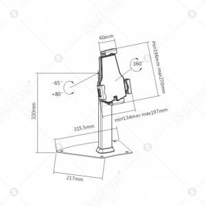 Chống trộm máy tính bảng BR-PAD 21-03 từ Setrus