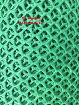 Lưới nhựa cứng, mắt cáo kích thước mắt từ 1x1cm đến 3x3cm. Khổ lưới tùy theo mục đích của quý khách chúng tôi sẽ sản xuất theo yêu cầu