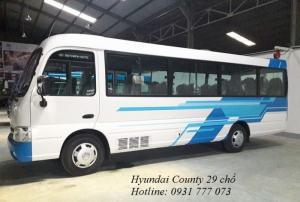 Hyundai County 29 chỗ. Tặng xe máy, tặng tiền mặt, giao xe trong vòng 5 ngày