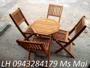 Bán bộ bàn ghê gỗ xếp loại thấp dùng cho quán cafe cóc