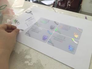 In Kỹ Thuật Số in name card trong suốt từ nhựa PVC gia công phủ UV  phản quang 7 màu đẹp - name card sang trọng và độc lạ cho doanh nghiệp
