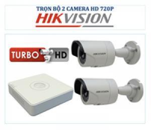 Bộ sản phẩm gồm 02 Camera giám sát HIKVISION
