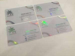 Thành phẩm in name card trong suốt được In Kỹ Thuật Số thực hiện cho khách hàng của mình