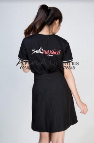 Mẫy áo thun đồng phục cao cấp nhẫn hiệu Ba Lô Túi Xách được thiết kế thời trang hàng đầu bởi AnnA Uniforms.
