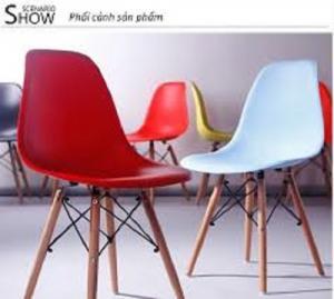 Ghế nhựa chân gỗ nhiều mẫu