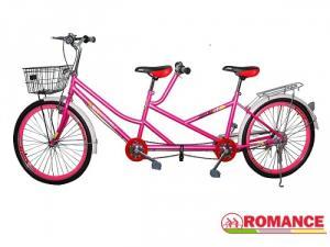 Xe đạp đôi màu hồng