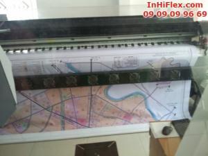Hỗ trợ quảng bá các dự án bất động sản là những pano, phông nền khổ lớn được in ấn từ cht liệu hiflex