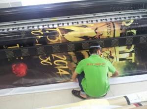 In banner hình ảnh thần tượng số lương lớn với chất liệu hiflex