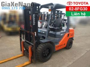 Xe nâng xăng gas TOYOTA 02-8FG30 - 2012 - xe...
