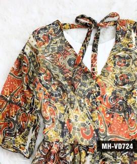 Đầm Voan Tay Bèo Thắt Nơ Lưng