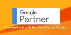Mua Bán Nhanh là đối tác chính thức của Google