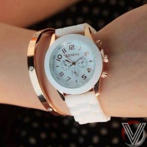 Đồng hồ Geneva dây Silicon