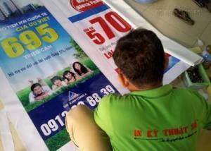 Dai - bền - sử dụng được nhiều lần - giá thành in rẻ - là một trong những ưu điểm của poster từ chất liệu bạt hiflex