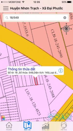 Đất đại phước giá 6,5tr/m cách phà 2km