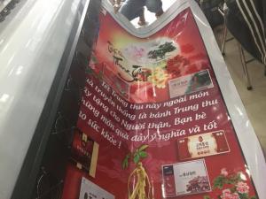 Bên cạnh banner, In Kỹ Thuật Số còn thực hiện in phông nền khổ lớn trong các sự kiện cho nhà Chùa