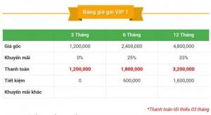 Bảng báo giá thành viên VIP 1
