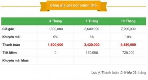 Báo Giá Khi Đặt Salon Ôtô Online Trên Mua Bán Nhanh.