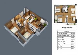 Bán căn hộ 66.2 m2 chung cư CT36 Định Công mới nhận nhà-1.7 tỷ
