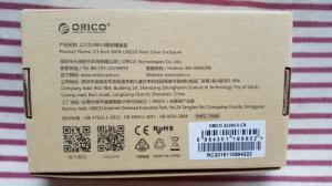 Hộp đựng ổ cứng 2.5inch Orico trong suốt - Chuẩn USB 3.0