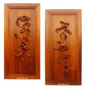 Bộ dáng quê (CHuối - đu đủ) tranh gỗ đẹp