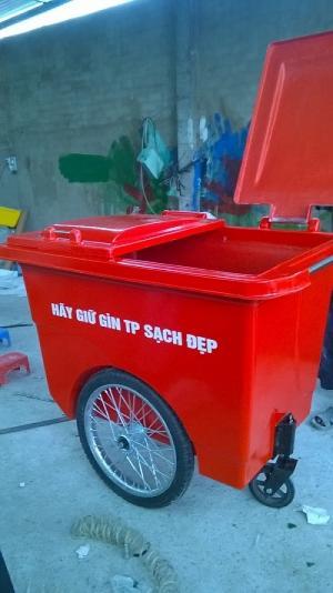 Thùng rác 660 lít 3 bánh xe, thùng rác giá rẻ