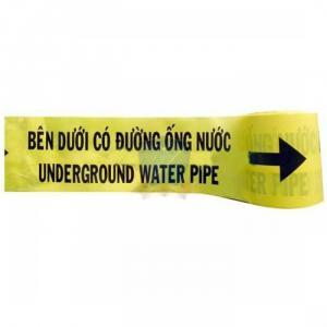 Băng cảnh bảo bên dưới có đường ống nước
