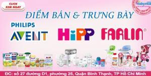 Điểm bán và trưng bày sản phẩm Hipp, Farlin, Avent