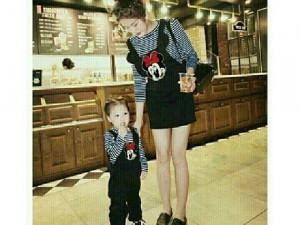 Sét áo và yếm cho bé và mẹ