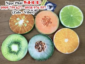 Gối trái cây, nệm trái cây in 3D, gối hoạt hình