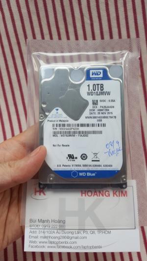 Ổ cứng laptop 1TB (1000GB) Western   hàng tháo máy,new 99%