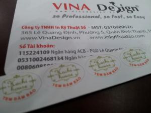 In tem niêm phong giá rẻ tại TPHCM và các tỉnh lân cận cùng In Kỹ Thuật Số