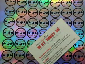 Tem 7 màu giá rẻ được in ấn bằng công nghệ laser đảm bảo cho sản phẩm của bạn không hề bị nhái hay có sự trà trộn của dấu hiệu làm giả.