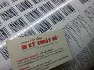In tem decal giấy có mã vạch BarCode tại In Kỹ Thuật Số