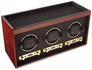 Hộp xoay đồng hồ cơ cao cấp, 3 chiếc Wolf Designs Medirian Triple Winder 453710, Burlwood