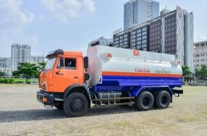 Xe xăng dầu KAMAZ  53229, bồn 16 - 18 m3 , ít 16.000 (xăng dầu nhiên liệu)