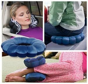 Chiếc gối này được sử dụng như một chiếc gối hỗ trợ cổ, lưng, chân, hoặc mắt cá chân.