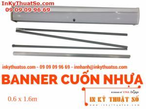 Banner Cuốn Nhựa thường 0.6m x 1.6m - Banner cuốn, Giá cuốn nhựa giá rẻ tại TPHCM