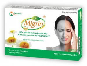 Migrin - Giảm đau, giảm tái phát cơn đau nửa đầu