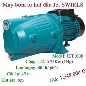 Máy bơm tự hút giá rẻ Swirls JET100B 1HP