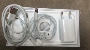 bộ phụ kiện sạc cáp tai nghe iphone 6plus bóc máy