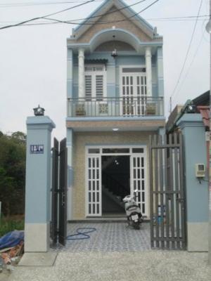 Nhà mới xây giá 820Tr/1 căn, Gò Đen giáp Bình Chánh, Nhà 1 trệt, 1 lầu