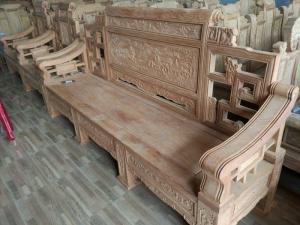Bộ Bàn Ghế Giả Cổ Kiểu Sơn Thủy gỗ gõ đỏ
