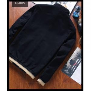 Áo khoác kaki trơn cao cấp LADOS-19 (Đen)