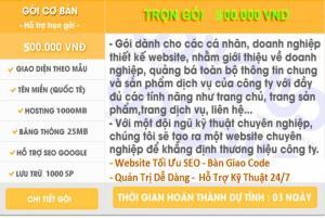 Thiết kế trang web bán hàng giá rẻ 500k